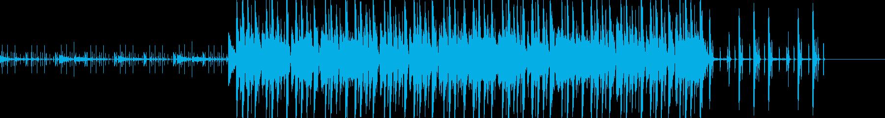 オシャレなファンクミュージックの再生済みの波形