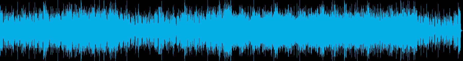 疾走感のあるエレキ四つ打ち戦闘曲の再生済みの波形