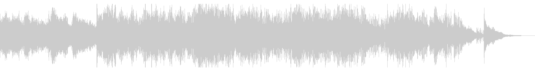 エレクトリックなグリッジアンビエントの未再生の波形