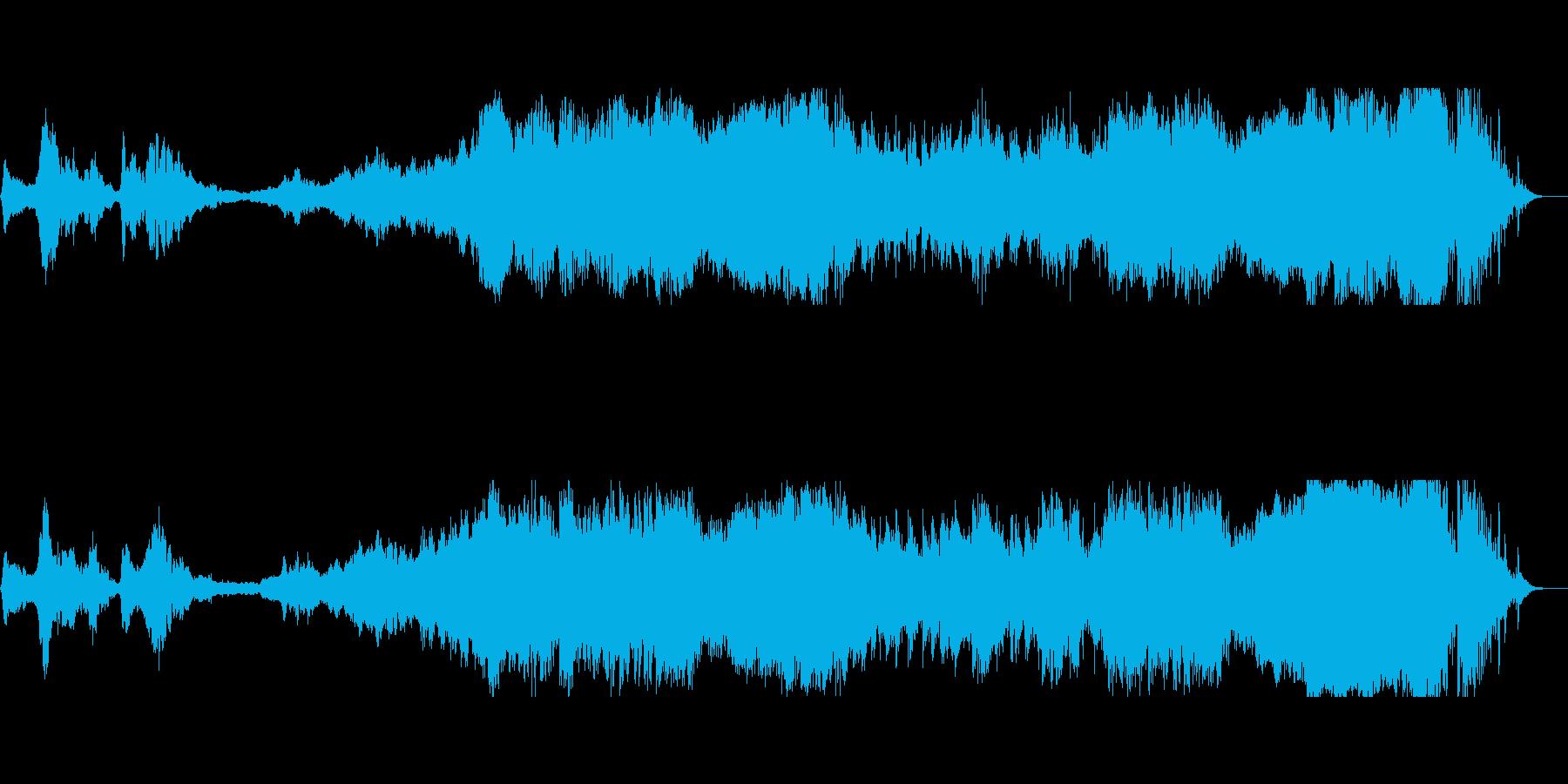 スリリングな戦闘シーン等に合う和風楽曲の再生済みの波形