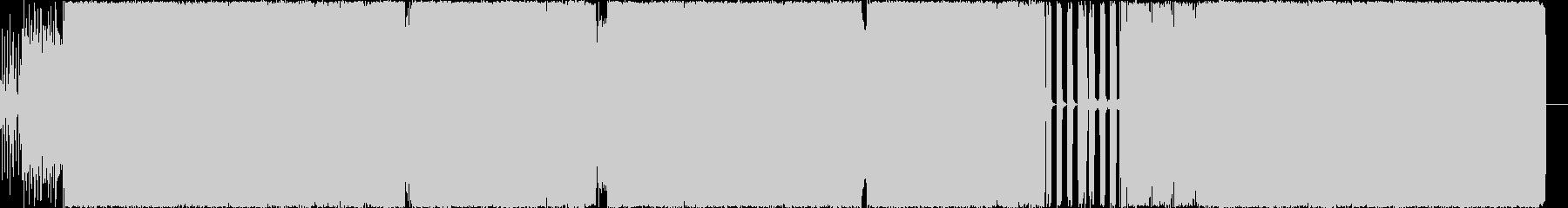 ベースの効いた4つ打ちRockサウンドの未再生の波形