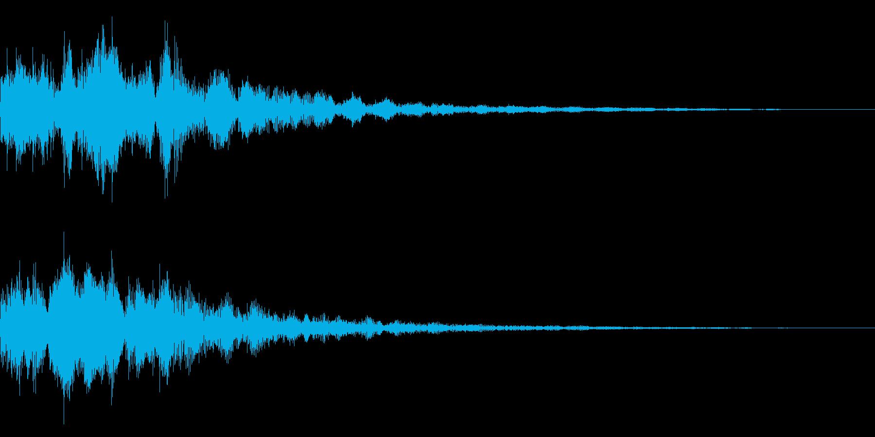 明るいテロップ音 ボタン音 決定音 14の再生済みの波形