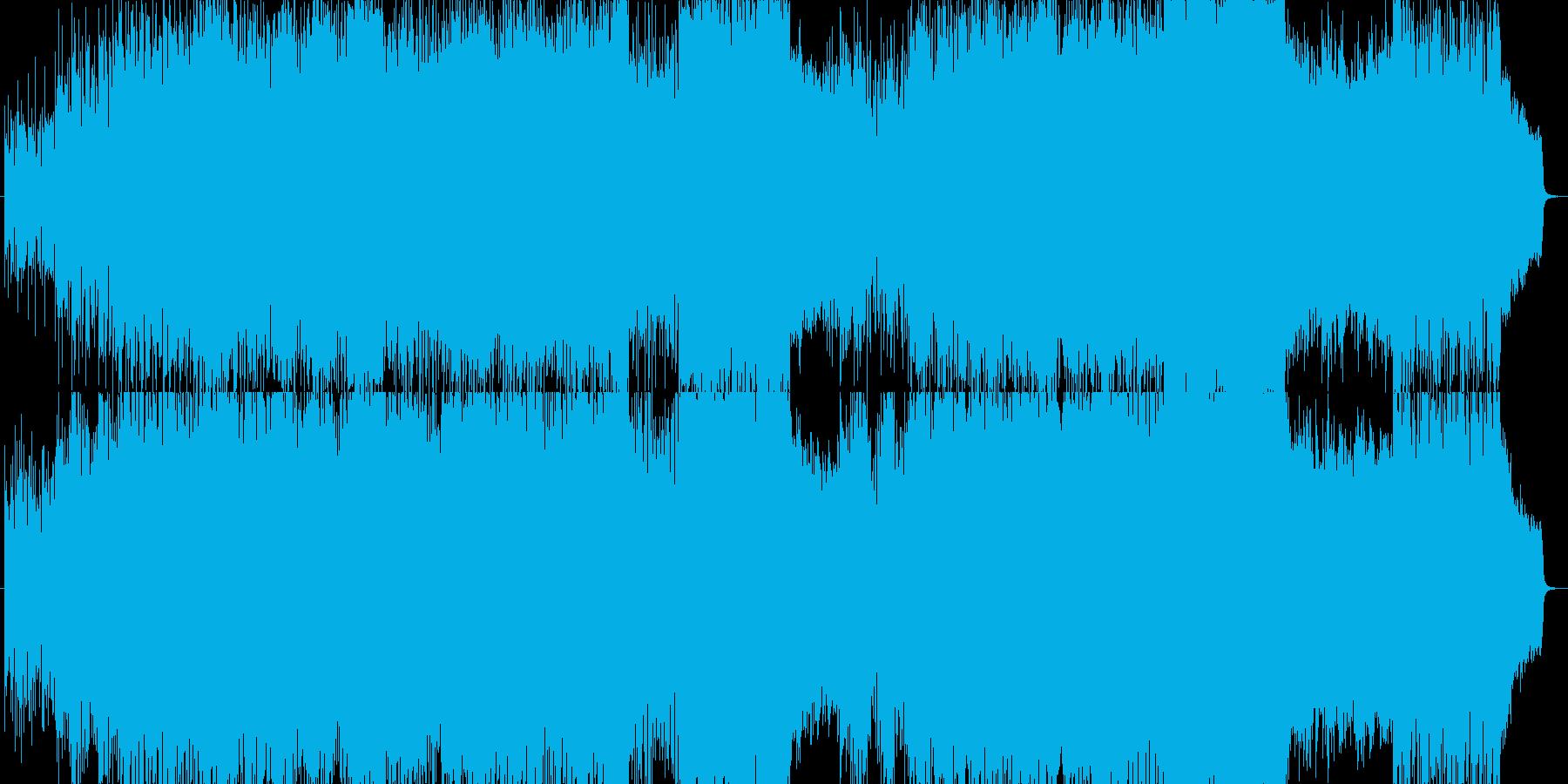 勇壮なテクノヴァイオリンオーケストラ曲の再生済みの波形