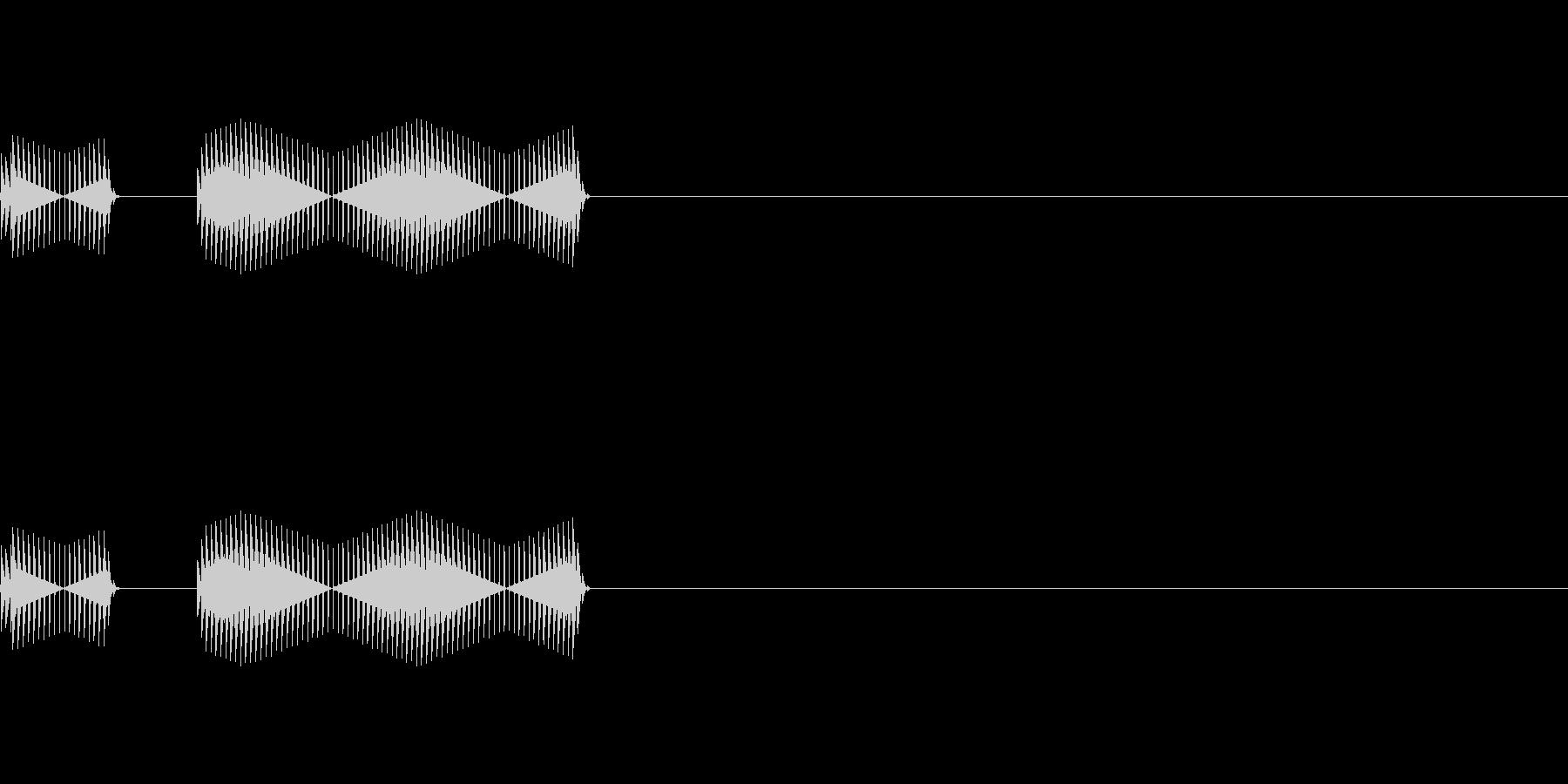 ブッブー 不正解音 1の未再生の波形
