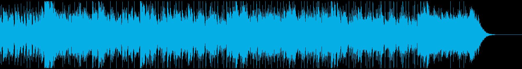南国風アレンジの曲の再生済みの波形