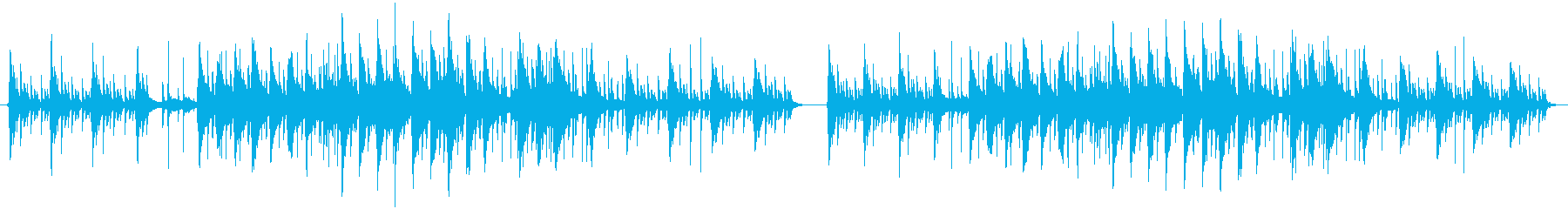 眠りそうなインストヒップホップの再生済みの波形