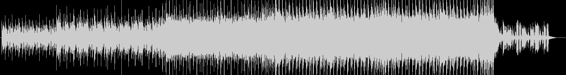 テンションの上がるエレクトロなテクノ曲の未再生の波形