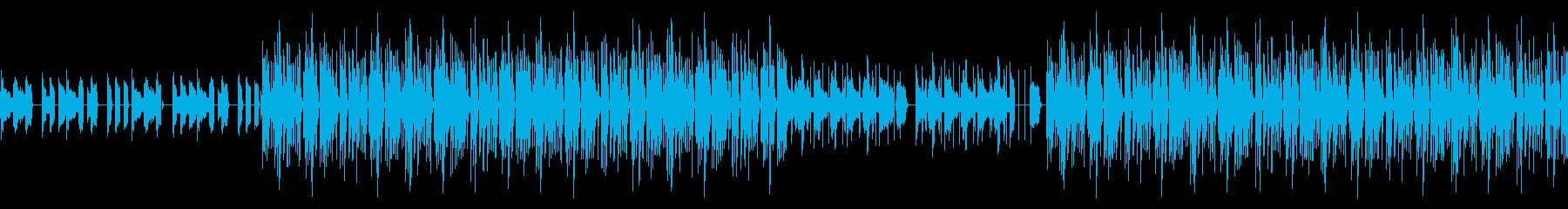 ポップでかわいい音色の超高速ジュークの再生済みの波形