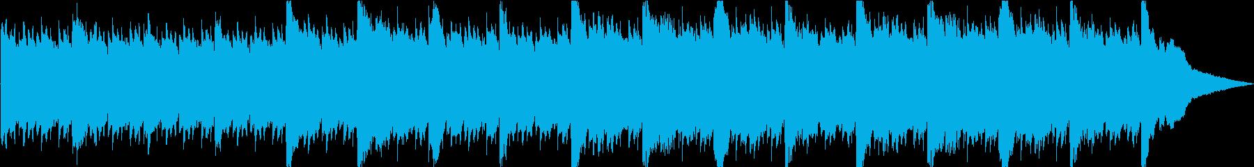 寂しく切ないピアノのBGMの再生済みの波形
