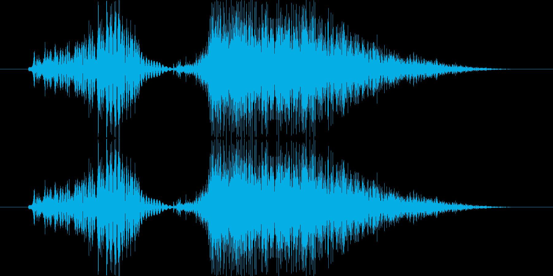 「いち」渋い男性の声の再生済みの波形