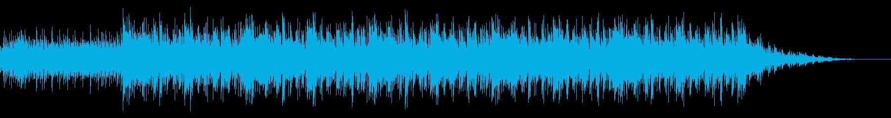 ピアノを使用した爽快感のあるインスト曲の再生済みの波形