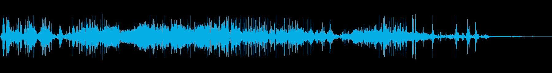 破壊破片ロングの再生済みの波形