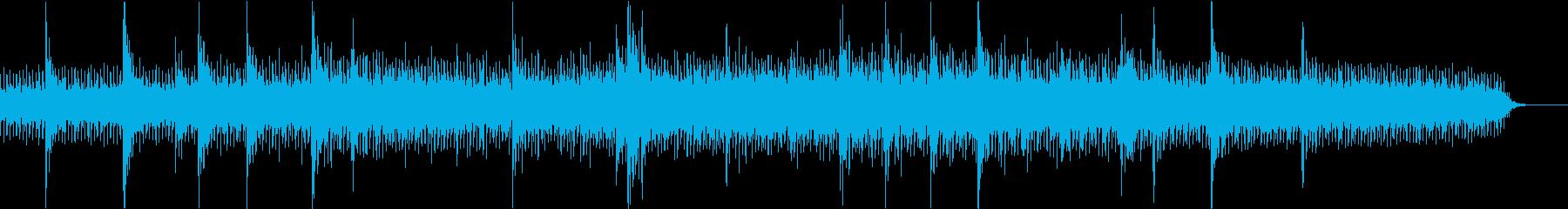 レトロ 映画的なシンセサイザー音楽 SFの再生済みの波形