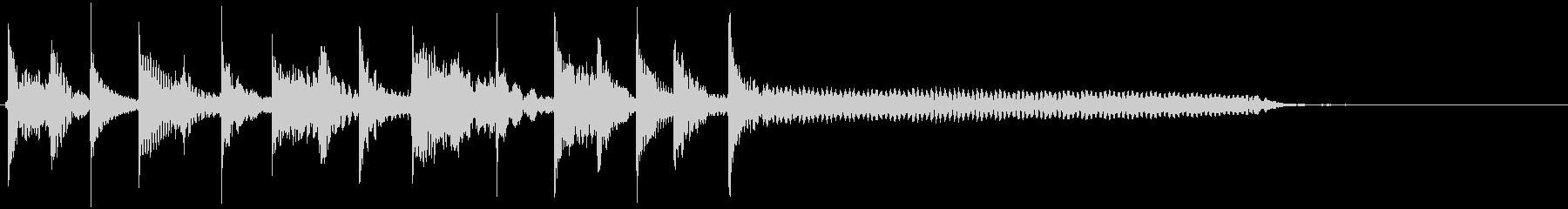 パーカッシブなアコギのフレーズの未再生の波形