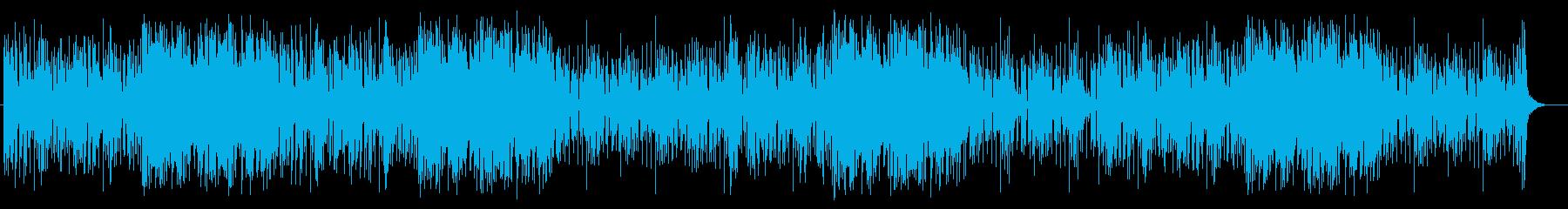 落ち着いたテンポのまったりミュージックの再生済みの波形