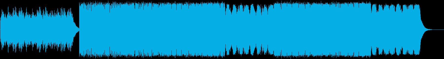 チェロとピアノの神秘的なテクスチャーの再生済みの波形