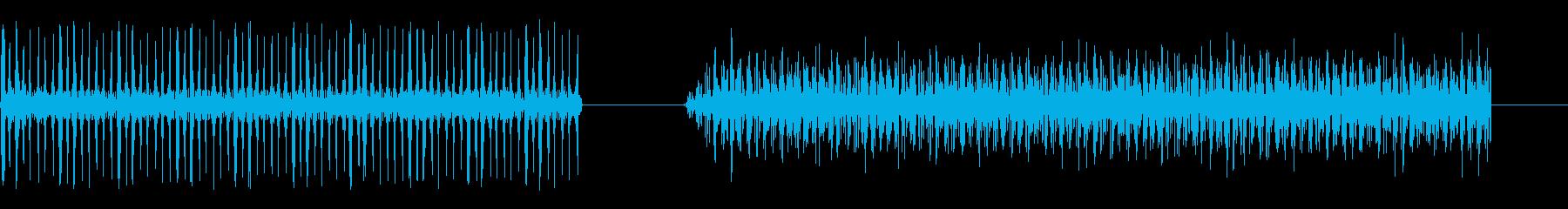 漫画-機械-2バージョンの再生済みの波形