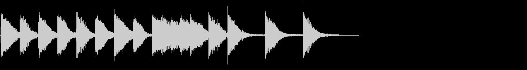 明るく かわいいピアノサウンドロゴ08の未再生の波形