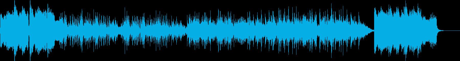 尺八と琴の日本風の曲の再生済みの波形
