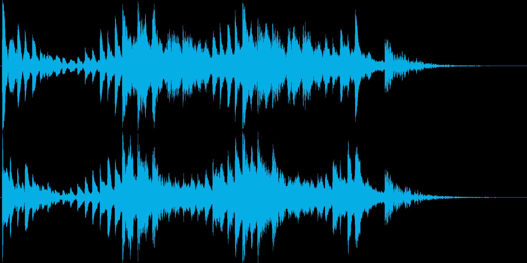 神秘的で幻想的なピアノ曲の再生済みの波形