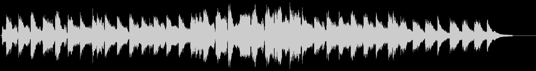 ほのぼのとした、フルートと弦のBGMの未再生の波形