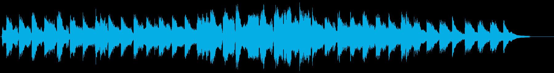 ほのぼのとした、フルートと弦のBGMの再生済みの波形