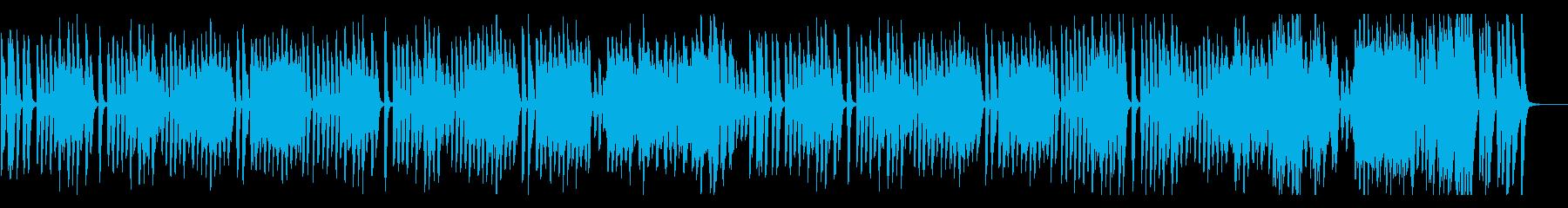 楽しい説明・紹介、ピアノ、ラグタイムの再生済みの波形