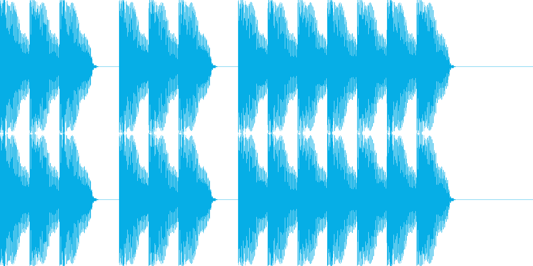 三三七拍子 その3 ドドドン・ドドドンの再生済みの波形