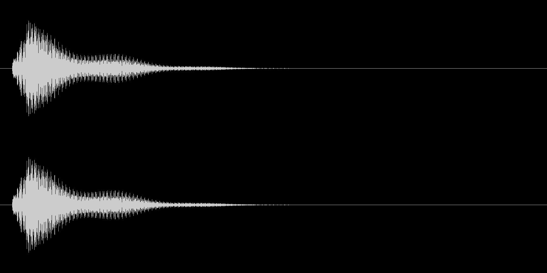 チャランといったシンプルな決定音・魔法音の未再生の波形