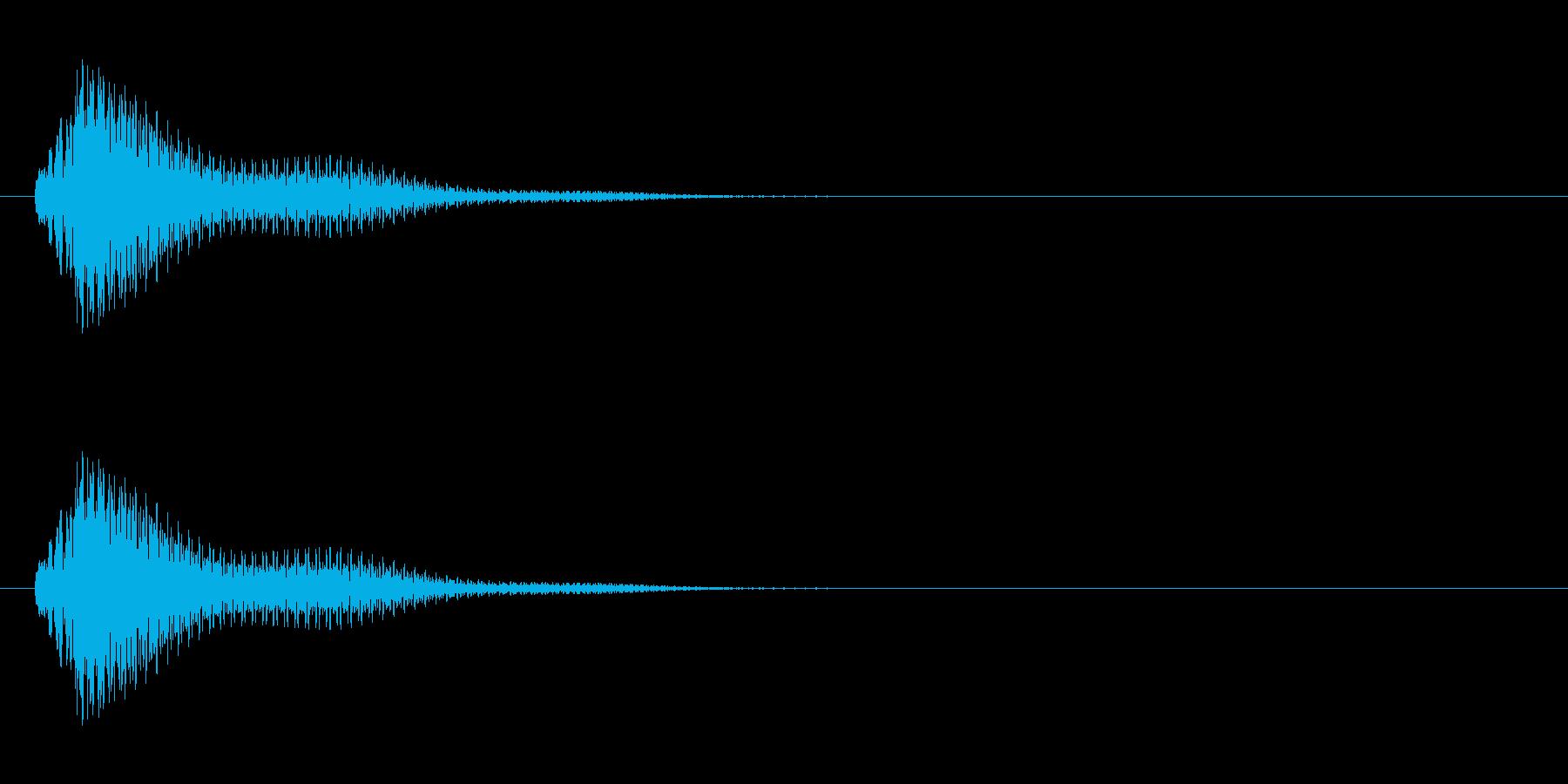 チャランといったシンプルな決定音・魔法音の再生済みの波形