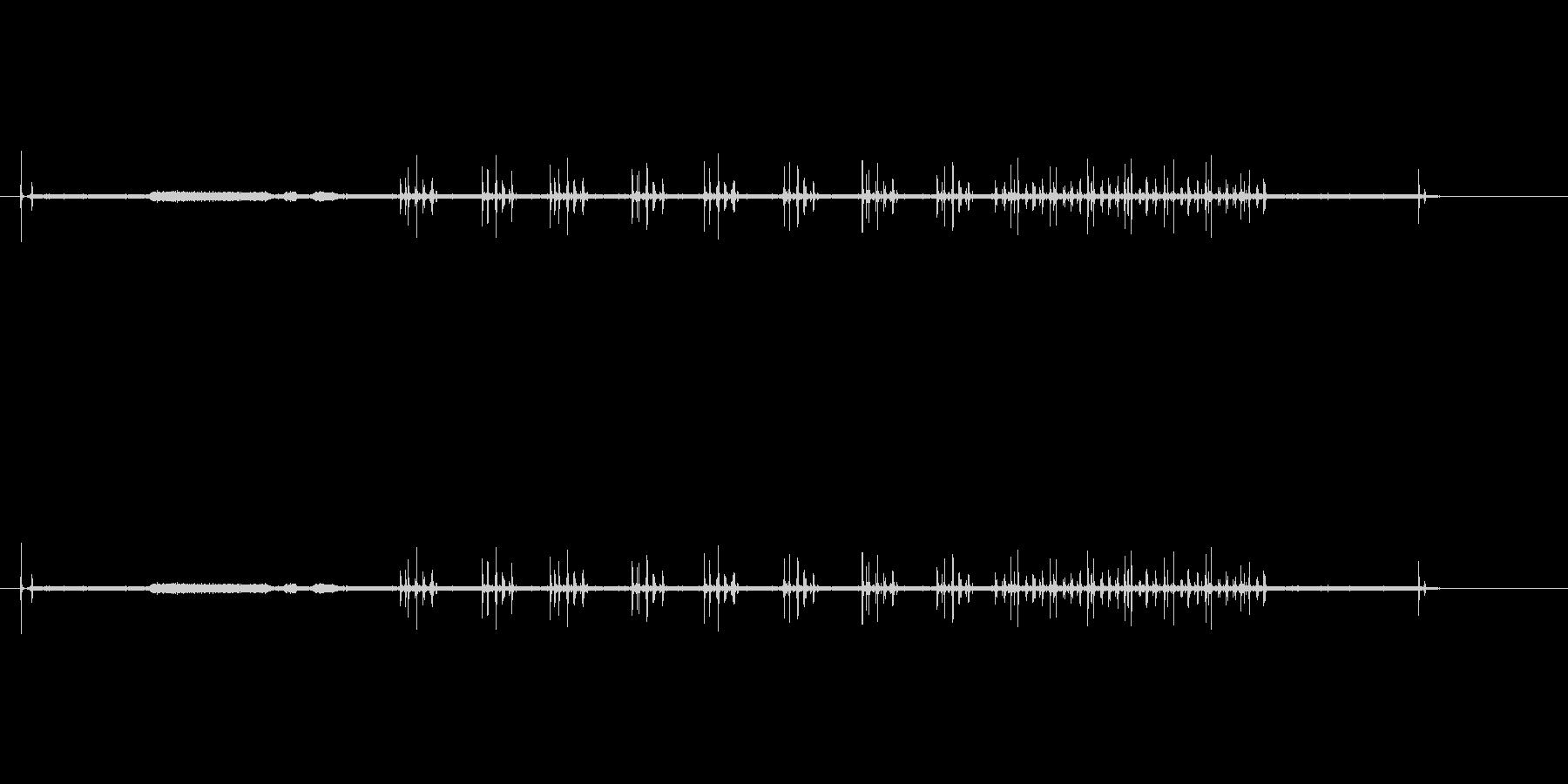 映画プロジェクター1の未再生の波形