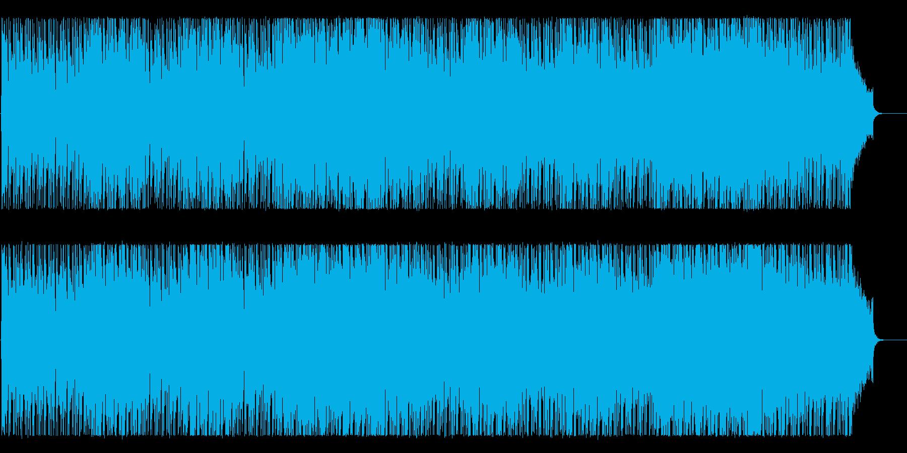 軽快でクールなBGMの再生済みの波形