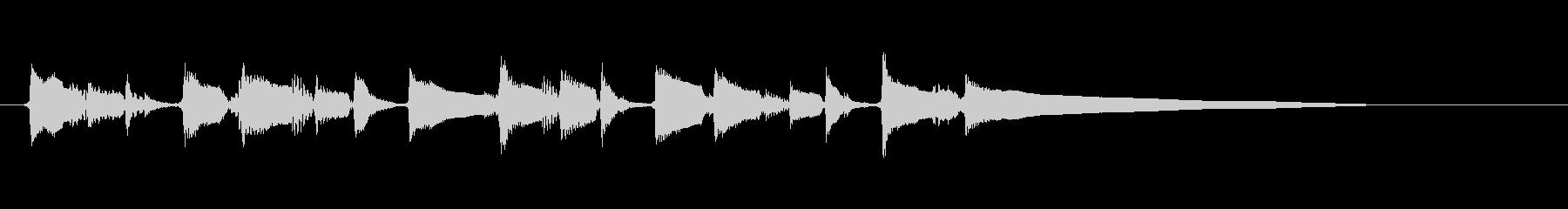 アコースティックギター 場面転換➂ ソロの未再生の波形