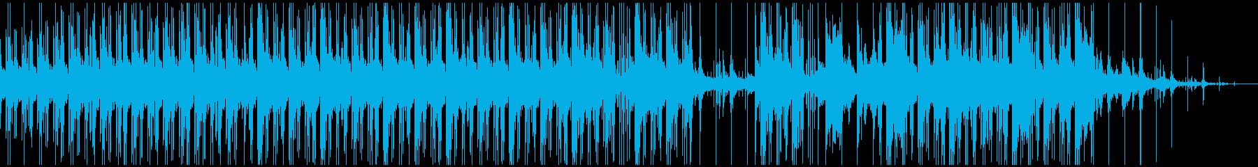 抽象的なふんわりしたBeatの再生済みの波形