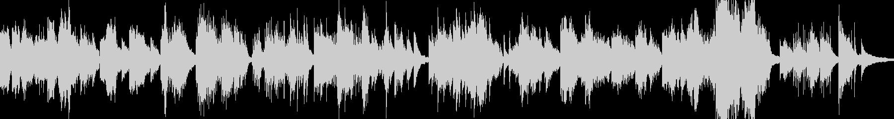 ピアノ。アルペジオ、メロディック。の未再生の波形