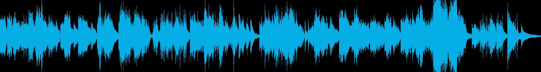 ピアノ。アルペジオ、メロディック。の再生済みの波形