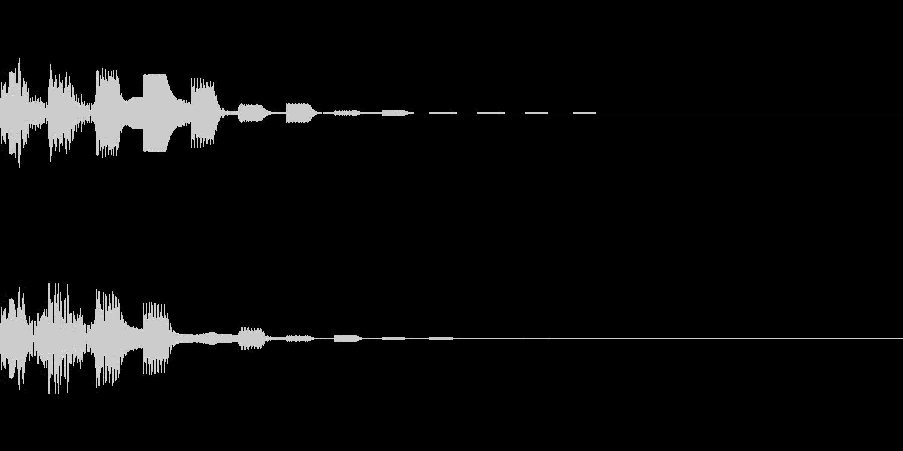 カジノ 言語設定ボタン音パターン3の未再生の波形