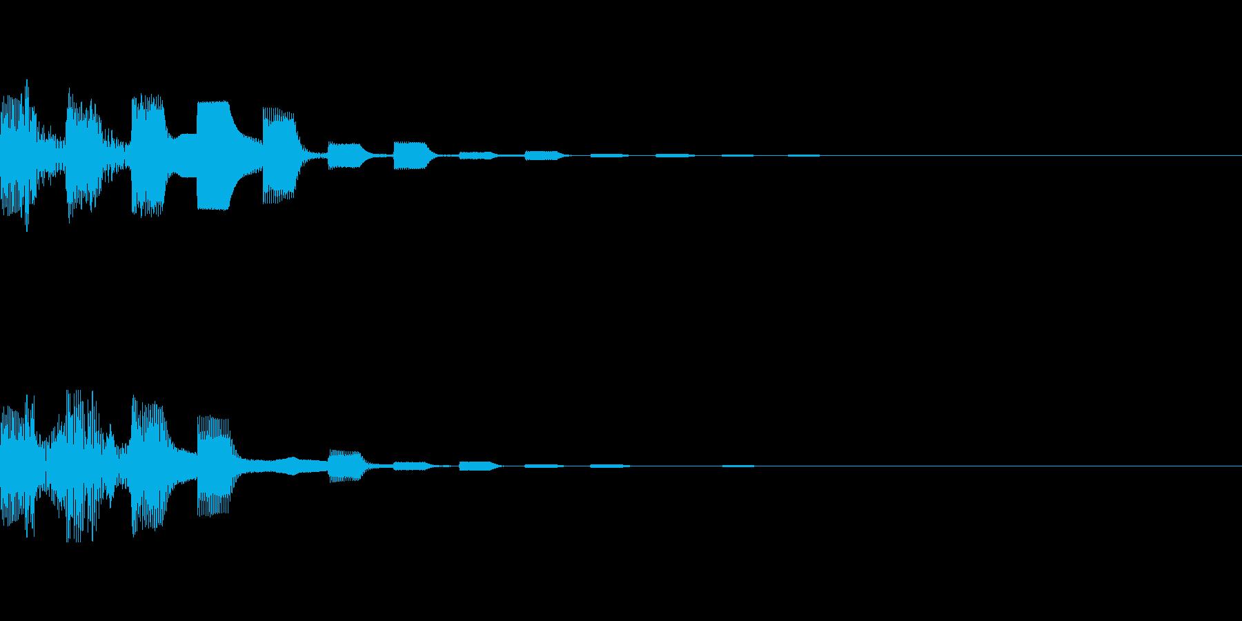 カジノ 言語設定ボタン音パターン3の再生済みの波形