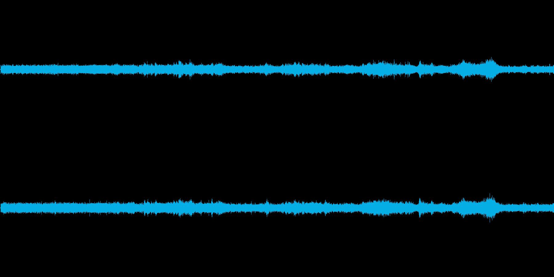 【生音】夏の日の通行音 - 9 「みー…の再生済みの波形