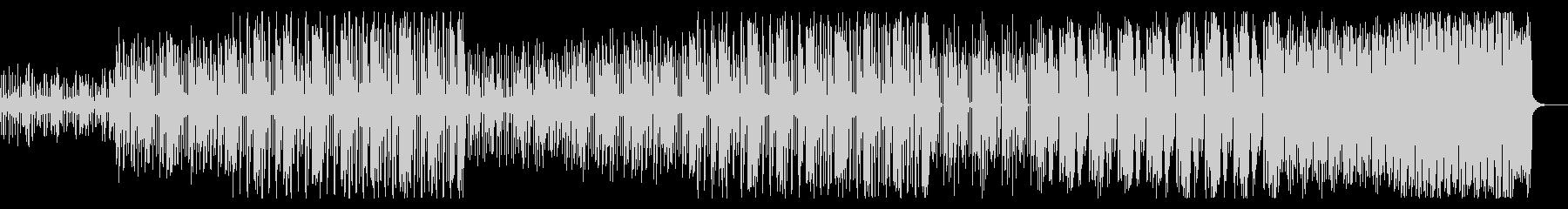 明るくふわふわとした電子音BGMの未再生の波形