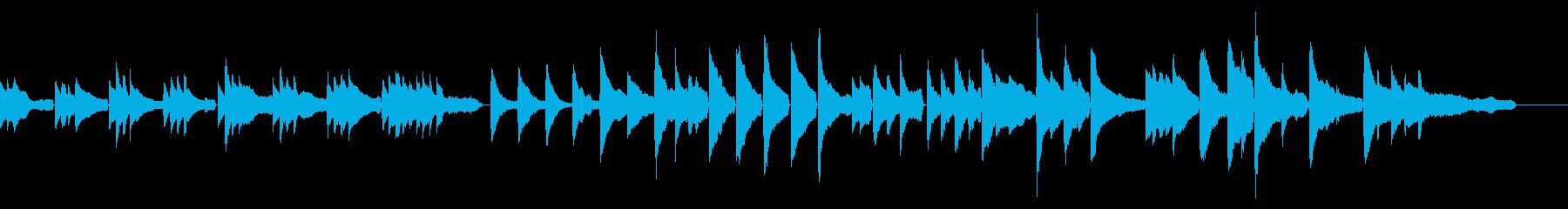 優しさと癒しを感じるピアノ系のヒーリングの再生済みの波形