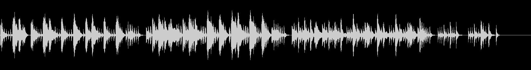 ブルターニュに伝わる歌のハープ曲の未再生の波形
