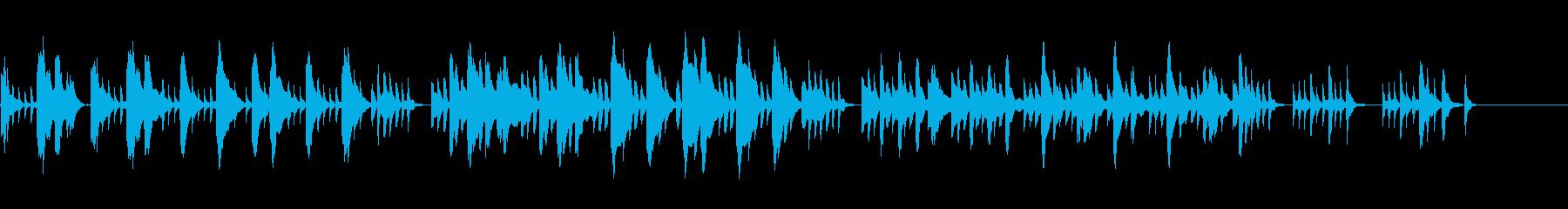 ブルターニュに伝わる歌のハープ曲の再生済みの波形