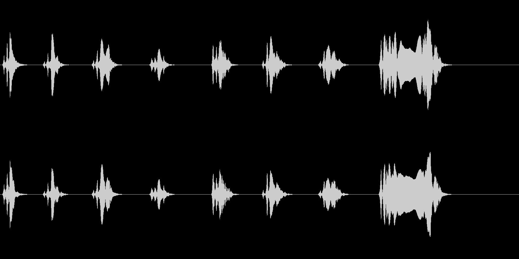 尺八 生演奏 古典風 残響音無 8の未再生の波形