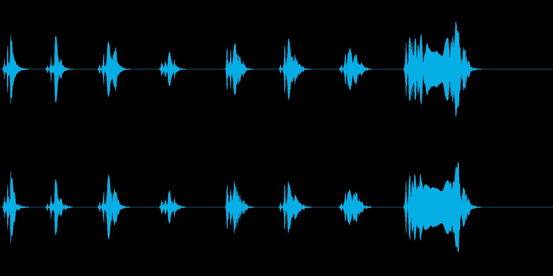 尺八 生演奏 古典風 残響音無 8の再生済みの波形