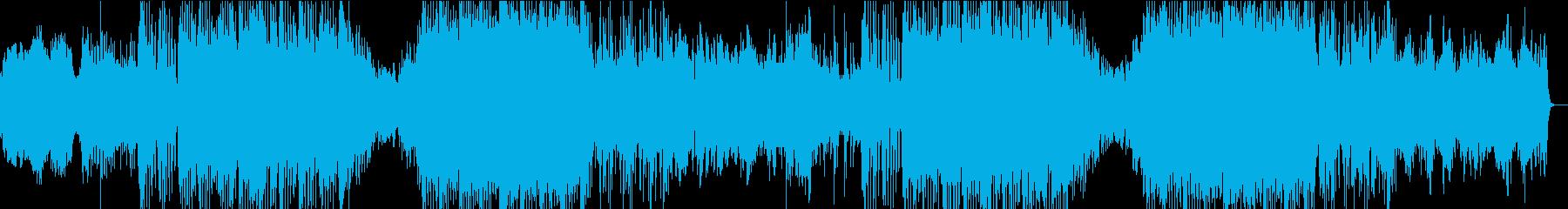 緊迫する場面で使えるテクノポップの再生済みの波形