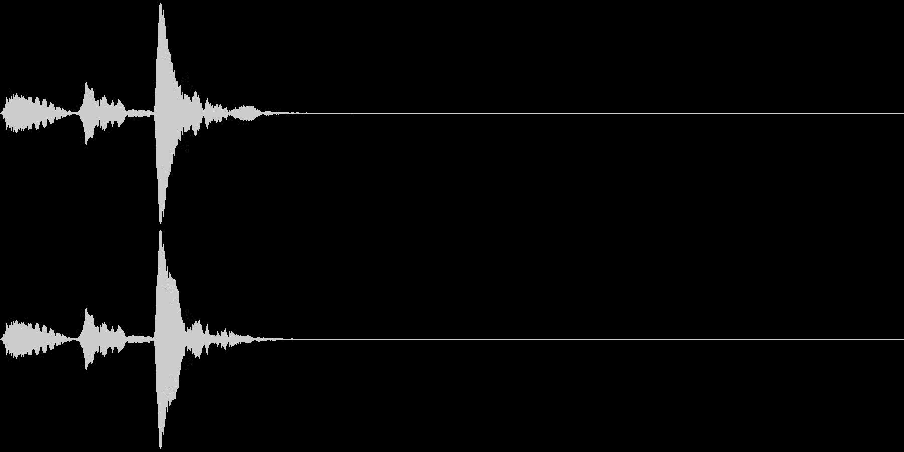 和楽器・鼓(つづみ)の3連打ポポポン2の未再生の波形