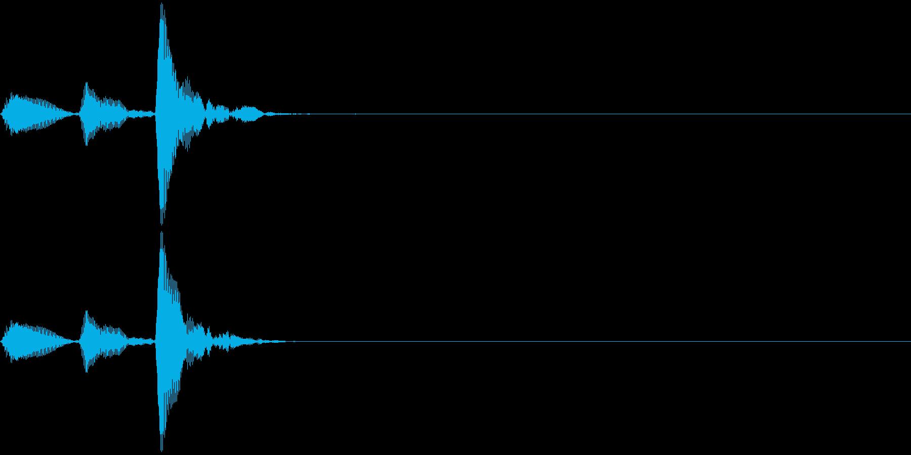 和楽器・鼓(つづみ)の3連打ポポポン2の再生済みの波形
