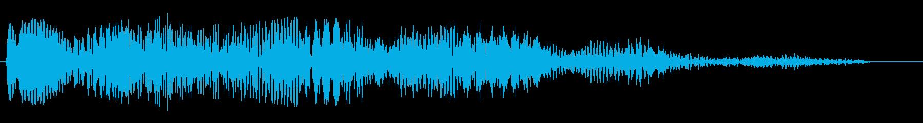 シンセのオープニングに使われそうな電子音の再生済みの波形