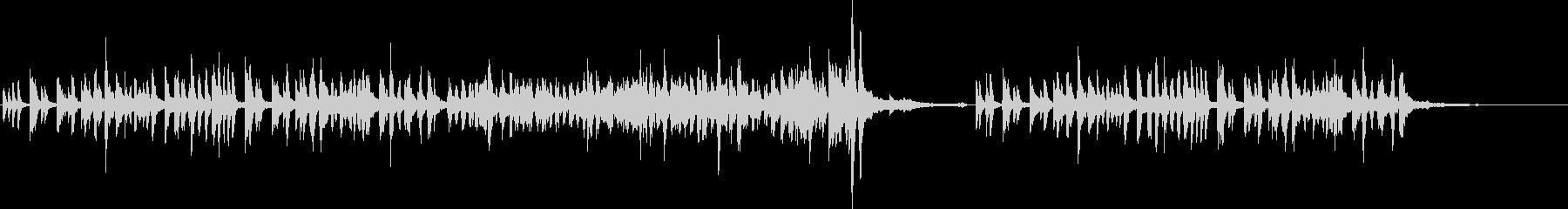 マリンバ(木琴)の軽快で爽やかなジャズの未再生の波形